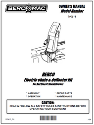 700518 } Electric chute & deflector kit for Northeast Snowblowers