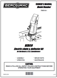 700518-1 } Electric chute & deflector kit for Northeast Snowblowers