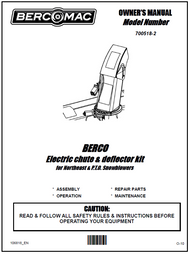 700518-2 } Electric chute & deflector kit for Northeast Snowblowers
