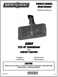 700560 } P.T.O. 48'' Snowblower For COMPACT TRACTORS