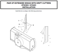 700563 } Pair of Extended Wings with Drift Cutters