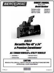 "700580-2 } 48"" Versatile Plus Snowblower (with centered motor, one V-Belt & electric clutch)"