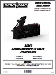 "700586 } 48"" Pro Series 1000, 3 Point Hitch Snowblowers"