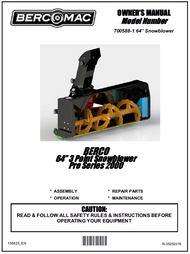 "700588-1 } 64"" Pro Series 2000, 3 point Hitch snowblowers"
