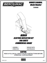 700666 } Electric Deflector Kit for Chute Commercial Grade