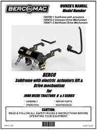 700700-1 } Subframe with electric actuators lift & JOHN DEERE TRACTORS D & E SERIES