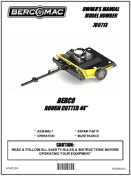 """700713 } 44"""" Rough Cut Mower with 17.5 HP engine"""