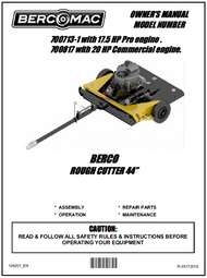 """700713-1 } 44"""" Rough Cut mower with 17.5 HP engine"""