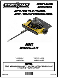 """700713-2 } 60"""" Finish cut mower with a 20hp engine"""