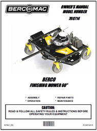"""700714 } 60"""" Finish Cut Mower with 17.5 HP"""