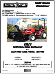 700730 } Sub-frame & drive mechanism for Branson 00 series compact tractors