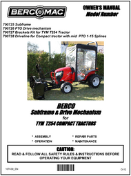 700738 } Sub-frame and drive mechanism for TYM  T254 compact tractor