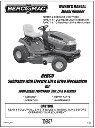700769-2 } Subframe with Electric Liftfor JOHN DEERE TRACTORS 100, LA & D SERIES