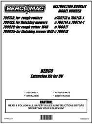 700793 } Extension kit for VU for rough cutters & finishing mowers