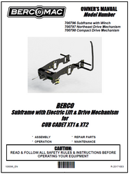 700796 } Subframe with electric lift for Cub Cadet XT1 & XT2