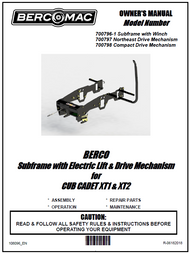 700796-1 } Subframe with Electric Lift & Drive Mechanism for CUB CADET XT1 & XT2