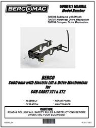 700798 } Compact Drive mechanism for Cub Cadet XT1 & XT2