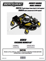 """700818 } 60"""" Finish Cut Mower with 20HP"""