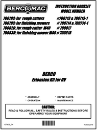 700820 } Extension kit for VU for rough cutters & finishing mowers