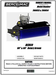 """700853 } 60"""" Rotary Broom with 7HP Kohler engine"""