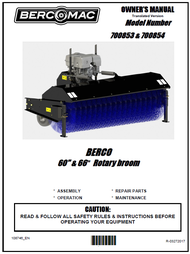 "700854 } 66"" Rotary Broom with 11HP Honda Engine"