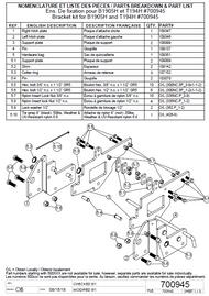 700945 } Bracket kit for Branson 1905H & TYM T194H