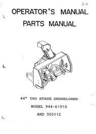 "944-61910 } Two phase 44"" Snowblower (Sears)"