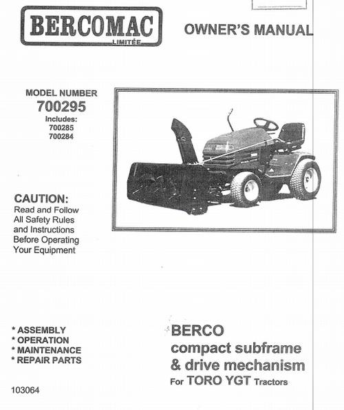 700285 } Adaptor for Toro YGT