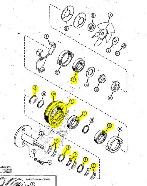 C51457 } KIT - PTO CLUTCH MAINTENANCE, PRE INSTALLED DISK