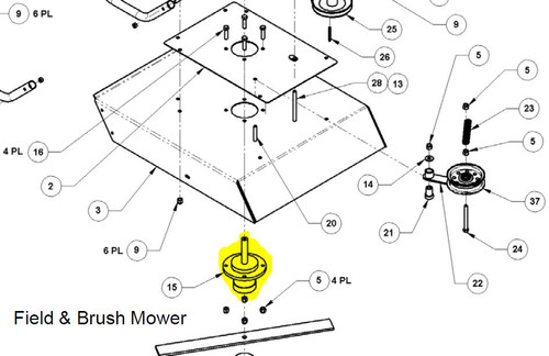 34438 } 344381 SPINDLE HOUSING ASSEMBLY