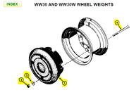 C990WW30W - WHEEL WEIGHTS