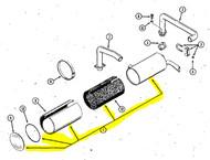 C24703 - MUFFLER - Item # 1 in illustration