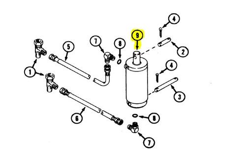 C32245 - CYLINDER - Item #9 in illustration