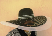 Large Astral Canopy Ladies Hat Trimmed with Rhinestones