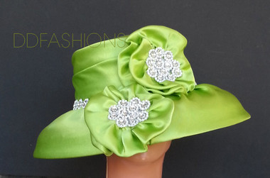Hat Large Floral Bow ddfashions.com