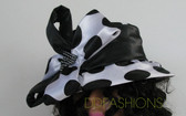 Ladies large polka dot with black crown