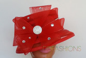 Red Ladies Hat on Sale at ddfashions.com