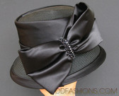 Narrow Brim Single Large Bow Hat