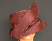 Brown Ladies Cloche Hat