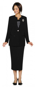 Black Ladies Suits - 3 piece GMI lined suit