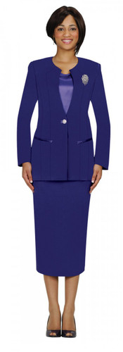Purple Ladies Suits - 3 piece GMI lined suit