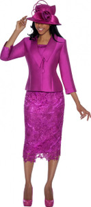 GMI5582 - Faux Silk / Wool Lace 2 Pieces