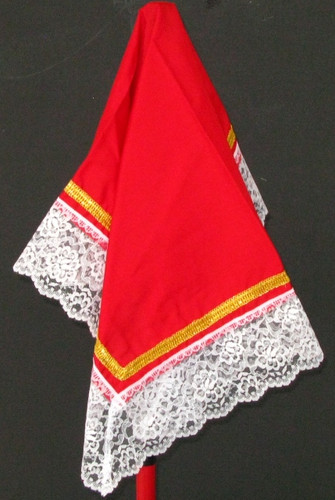 Red and White Handkerchief
