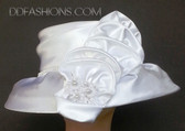 Luxurious Small Brim with Large Flower Spray