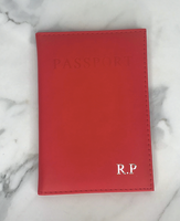 Personalised Red Passport Cover