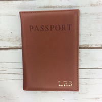 Personalised Brown Passport Cover