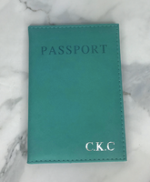 Personalised Turquoise Passport Cover