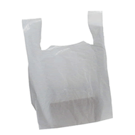 """White Plastic Carrier bags [11"""" X 17"""" X 21""""] Pack Size SIZE 100"""