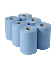 2Ply Blue Centrefeed Rolls 6x130m