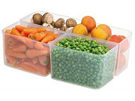 4ltr Clear Rectangular Container & Lid